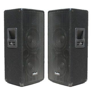 Seismic Audio   Pair of Dual 10 PA DJ Club SPEAKERS 600