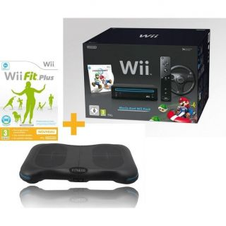 Wii NOIR MARIO KART+ FITNESS STATION+ Wii FIT PLUS   Achat / Vente WII