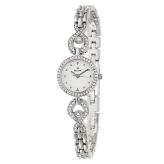 Bulova Womens Stainless Steel Crystal Watch