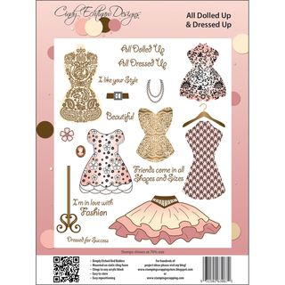 Cindy Echtinaw Designs Spellbinders Matching Rubber Stamps All Dolled