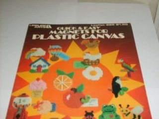 Leisure Arts 226 Quick & Easy Magnets for Plastic Canvas Anne Van