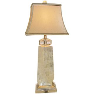 Twisted Mother of Pearl Crystal Table Lamp