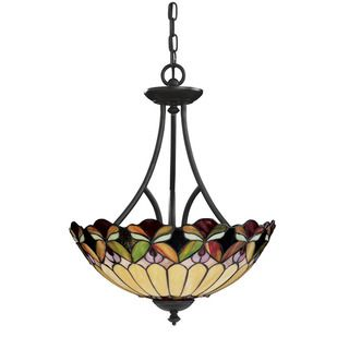 Tiffany style 3 light Bronze Pendant Light Fixture