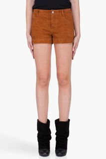 Haute Hippie Brown Suede Shorts for women
