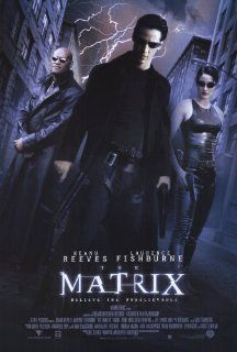 The Matrix Poster B 27x40 Keanu Reeves Carrie Anne Moss