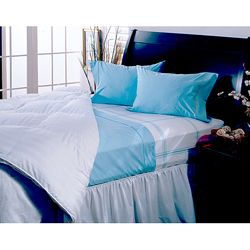 Hotel Grand Collection 330 Thread Count 4 piece Light Blue Sheet Set
