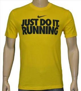 Nike Mens Dri Fit Just Do It Running Shirt Yellow/black