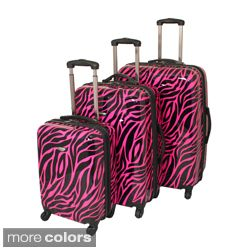 American Travel 3 piece Zebra Expandable Lightweight Hardside Spinner