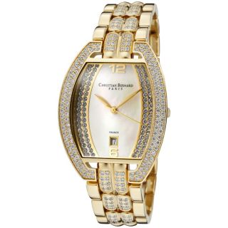 Christian Bernard Mens Daylight Goldtone Ion Plated SS Watch