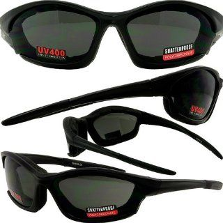 Boston Foam Padded Motorcycle Riding Biker Glasses Sunglasses Smoke