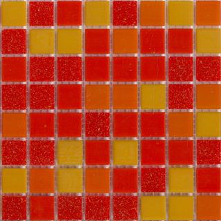Brio 13x13 inch Tango Mosaic 3/4 inch Glass Tiles (Pack of 20