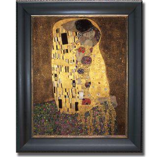Gustav Klimt The Kiss Framed Canvas Art Today $79.99 Sale $71.99