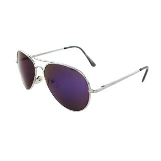 Unisex 30011R SVRPL Metal/ Purple Mirror Aviator Sunglasses Today $12