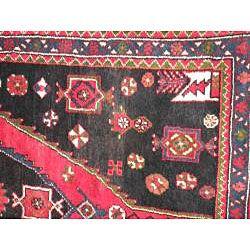 Iranian Hand knotted Persian Hamadan Wool Rug (37 x 11)