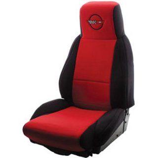 Black Standard Corvette Neoprene Seat Covers C4 Logo :