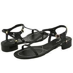 Vaneli Brede Black Blazon Patent Sandals