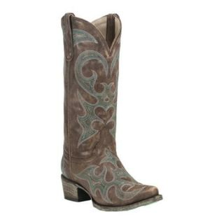 Womens Lane Boots Love Sick Distressed Brown/Teal Leather