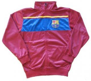 FC Barcelona Zippered Track Jacket Clothing