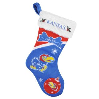 Kansas Jayhawks Polyester Christmas Stocking