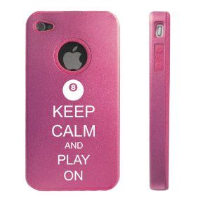 Apple iPhone 4 4S 4 Pink D2599 Aluminum & Silicone Case
