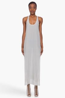 Damir Doma Grey Silk Racerback Dress for women