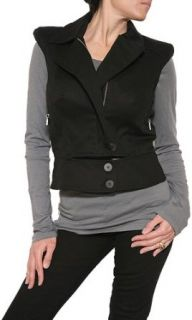 Nicole Miller Motorcycle Vest in Black Size XS: Clothing