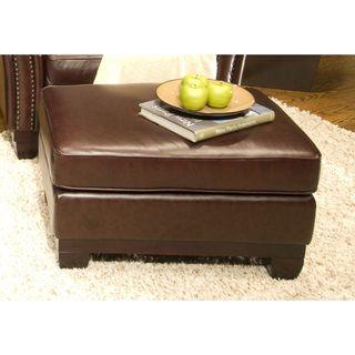 Elements Fine Home Furnishings Serafina Top Grain Leather Standard