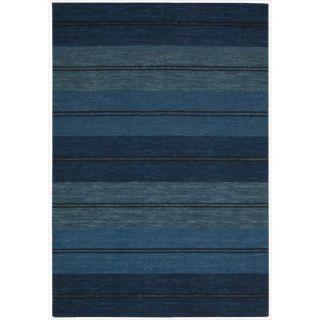 Handmade Barclay Butera Mediterranean Stripe Oxford Rug (53 x 75