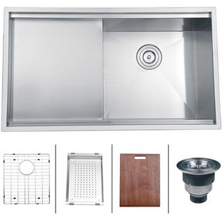 Ruvati 16 gauge Stainless Steel 33 inch Single Bowl Undermount Kitchen