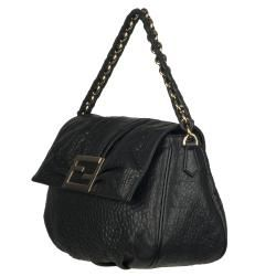 Fendi Mia Black Leather Shoulder Bag