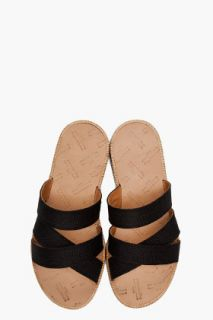 Maison Martin Margiela Straw & Leather Sandals for men