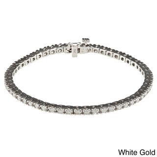 14k Gold 1 3/4ct TDW Diamond Tennis Bracelet (I J, I2)