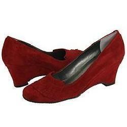 Vaneli Bonbon Dark Red Suede Pumps/Heels