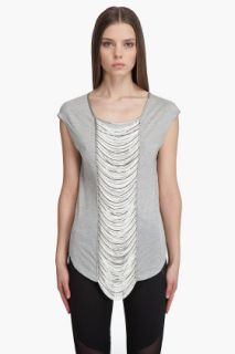 Haute Hippie Fringe Front T shirt for women