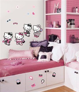 Magnificent Peel & Stick By RoomMates Hello Kitty Dress Up