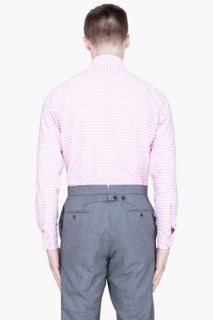 Thom Browne Pink Checkered Oxford Shirt for men