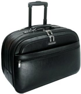 LE Sands 15.4 inch Black Deluxe GENUINE LEATHER Wheeled