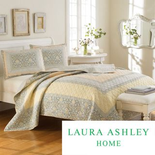 Laura Ashley Sheffield 3 piece Quilt Set