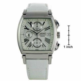 Seiko Womens Chronograph White Strap Watch
