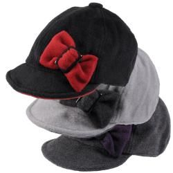 Journee Collection Womens Fleece Cap with Side Bow