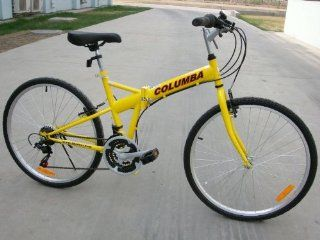 Columba 26 Folding Bike w. Shimano 18 Speed Yellow (SP26S