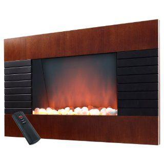 Warm House Mahogany Effect Trim 1500 Watt Fireplace Heater