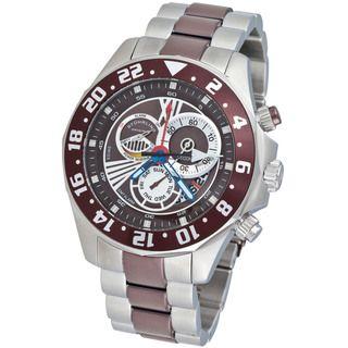 Stuhrling Original Mens Nautico Dual Time Zone Watch