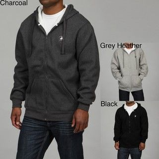 Beverly Hills Polo Mens Sherpa Lined Fleece Hoodie