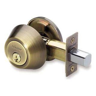 Master Lock DSO0605/4D Single Cylinder Deadbolt, Antique Brass