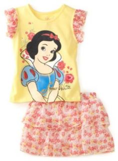 Disney Girls 2 6X Snow White Ruffle Skooter Set, Lemon