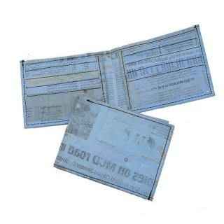 Recycled Plastic Blue Aamir Bi fold Wallet (India)