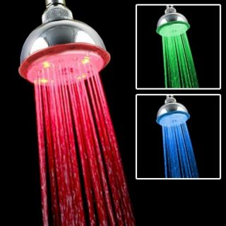 Red/ Green/ Blue Light Temperature Controlled LED Shower Head