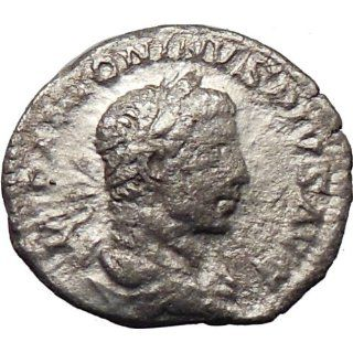 ELAGABALUS Bisexual Emperor 220AD Ancient Silver Roman Coin Victory