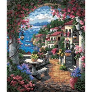 Seaview Hideaway Needlepoint Kit 12X14 Stitched In Thread